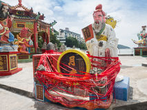 God Statue in Guan Yin Temple. Stock Image