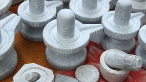 God Statues on sale. Small size of god statues sale on roadside shop in india Royalty Free Stock Images