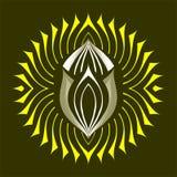God of sun. Vector logo with theme the sun Stock Photo