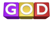 God Sunday School. Baby toy building blocks God Sunday School Stock Photos