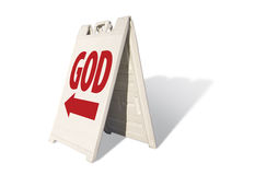 God - Tent Sign Royalty Free Stock Images