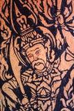 God  Thai wall painting Stock Photo