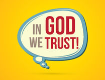 In God we trust text. In balloons graphic vector Stock Images