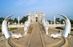 God van doodsstandbeeld bij de tempel van Rong Khun Royalty-vrije Stock Foto