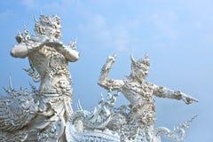God van doodsstandbeeld bij de tempel van Rong Khun Royalty-vrije Stock Afbeeldingen