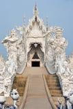 God van doodsstandbeeld bij de tempel van Rong Khun Stock Afbeelding