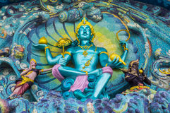 God van mythologiebeeldhouwwerk op ingang Royalty-vrije Stock Foto