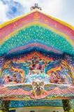 God van mythologiebeeldhouwwerk op ingang Royalty-vrije Stock Foto's