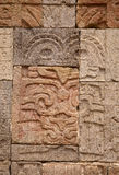 God Wall Carving Teotihuacan Mexico Stock Image