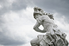 God Of War - Mars. A marble statue, from around 1750, located at Sanssouci (summer palace of Frederick the Great, King of Prussia, in Potsdam, near Berlin). This Royalty Free Stock Photos