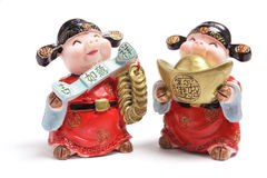 God of Wealth Figurines Royalty Free Stock Photography