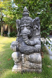 The god of wealth stone statue Royalty Free Stock Photo