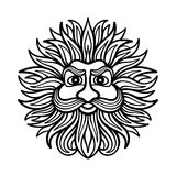 God of wind. Vector illustration of the ancient God of the wind Stock Photography