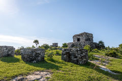 God of winds Temple - Mayan Ruins of Tulum, Mexico Stock Photography