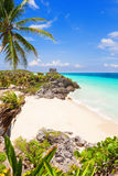 God of Winds Temple on turquoise Caribbean sea Stock Image