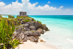 God of Winds Temple on turquoise Caribbean sea Stock Photography