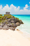 God of Winds Temple on turquoise Caribbean sea Stock Photos