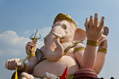 The God of wisdom and difficulty Ganesha statue Stock Photos