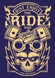 Goda appena dell'arte del motociclista di vettore di giro royalty illustrazione gratis