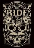 Goda appena dell'arte del motociclista di vettore di giro illustrazione di stock