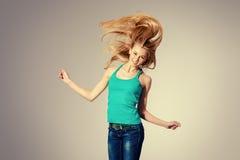 Goda dei vostri capelli Fotografia Stock Libera da Diritti