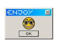 Goda del messaggio del computer Fotografia Stock
