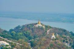 Goda del paesaggio scenico di Sagaing immagine stock libera da diritti