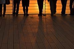 Goda del tramonto Fotografia Stock