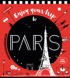 Goda del vostro viaggio a Parigi Fotografia Stock Libera da Diritti