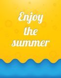 Goda dell'estate Immagini Stock