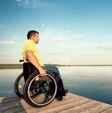 Goda dell'estate sul lago Fotografia Stock