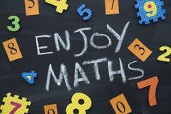 Goda dell'iscrizione di per la matematica su un balckboard Fotografia Stock