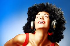 Goda della musica Fotografie Stock Libere da Diritti