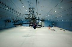 Goda della neve nel deserto a Ski Dubai Fotografie Stock Libere da Diritti