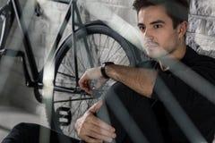 Goda della passione della bicicletta Fotografie Stock Libere da Diritti