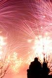 Goda della vista dei fuochi d'artificio Fotografia Stock Libera da Diritti