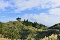 Goda della vista della natura intorno allo stagno di Menghuan in montagna di Yangmingshan Fotografie Stock