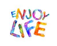 Goda della vita Slogan ispiratore di vettore Fotografia Stock