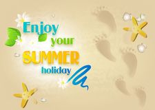 Goda della vostra vacanza estiva Immagine Stock Libera da Diritti