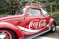 Goda di un'automobile del coke Fotografie Stock Libere da Diritti