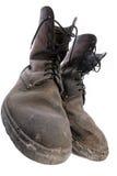 goda gammala skor arkivbild