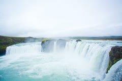 godafoss冰岛北瀑布 库存照片