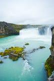 godafoss冰岛北瀑布 免版税库存图片