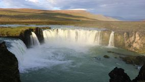 godafoss冰岛瀑布 股票视频