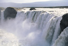 godafoss冰岛瀑布 图库摄影