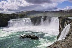 godafoss冰岛瀑布 库存照片