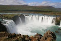 godafoss冰岛 免版税图库摄影