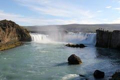 Godafoss瀑布。 库存照片