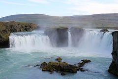 Godafoss瀑布。 免版税库存图片