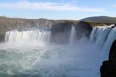 Godafoss瀑布。 图库摄影